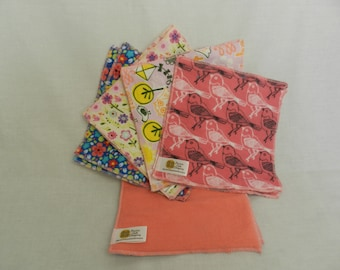 Cloth Baby Wipes, Girl Colors
