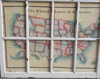 Weathered Map Windows