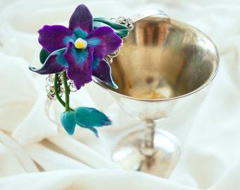 Headband deep purple orchid/tropic /flower/Orchid/elegant /modern/