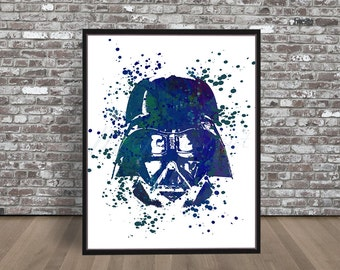 Darth Vader Watercolor Print, Star Wars watercolour, Jedi painting, Anakin Skywalker painting, Illustration poster, empire strikes Print Art
