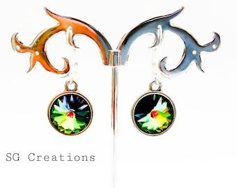 """Earrings """"Dark Peacock"""""""