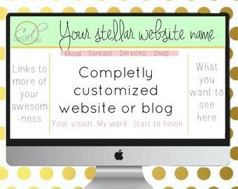 Custom logo and website (or blog) design