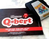 Atari QBERT Video Game Cartridge with User Manuel / Instructions Book  from Parker Brothers ©1983