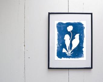 Pitcher Plant Watercolor Print - SMc. Originals, watercolor painting, rustic, modern, original artwork, floral series, floral, organic, navy