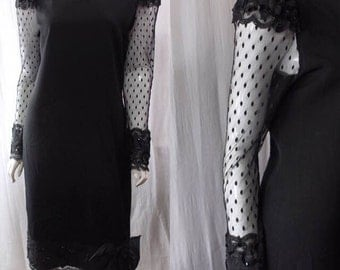 Black Vintage Dress by Barbara Chodos for Michael Marcella