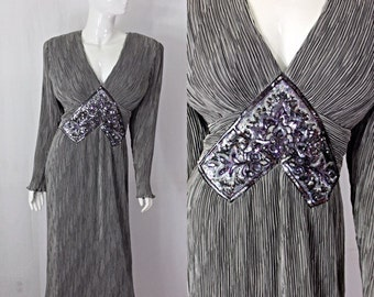 Grey Silver Dress  by Ricky Lang of Nuit