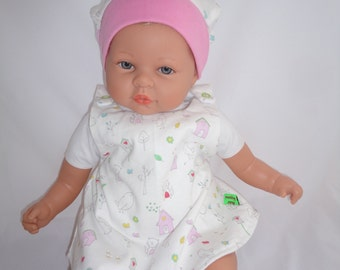 Sweet newborn tunics and hat set