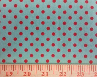 Polka Dot FLANNEL Fabric By The Yard