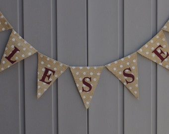 Blessed Sign, Blessed Banner Bunting, Blessed Garland, Blessed Sign, Thanksgiving Decor/Banner, Burlap Banner, Home Decor, Rustic, Farmhouse