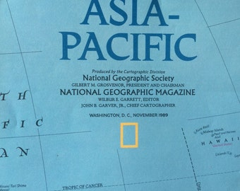 1989 National Geographic map of Asia