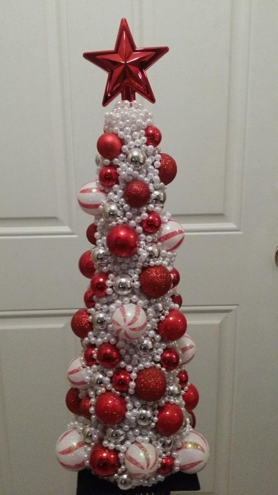 Candy cane christmas centerpiece