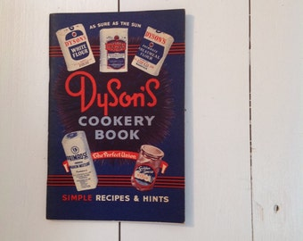 Dysons cookery / recipe book excellent condition 1950s