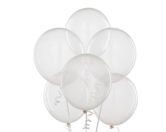 """Clear Balloons 11"""" Latex Diamond Clear Balloons / Weddings_Photo Props_Gender Reveal__Best Quality Balloons_"""