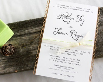 Country Chic - wedding invitation set