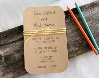 Simply Rustic - wedding invitation set