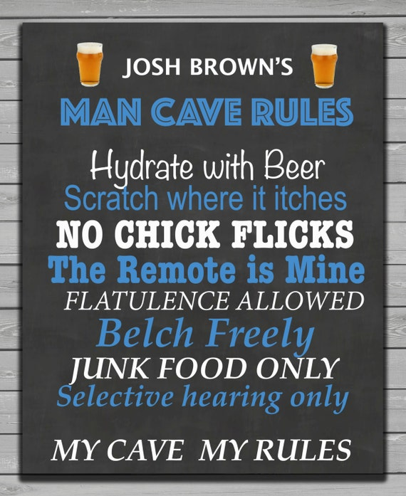 Printable Man Cave Signs : Man cave rules printable signs by