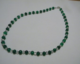 Glass and Rock Crystal Necklace