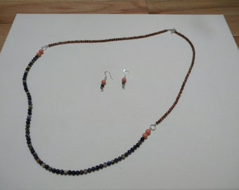 Sodalite and Goldstone Necklace