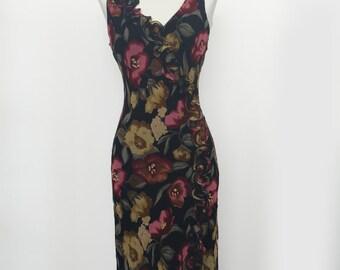 Floral Wrap Tank Dress by Romerecci
