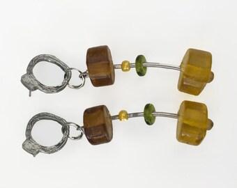 60s Mod Drop Earrings
