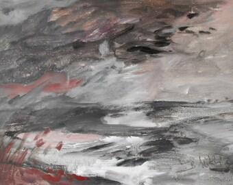 Riverbank - original acrylic painting