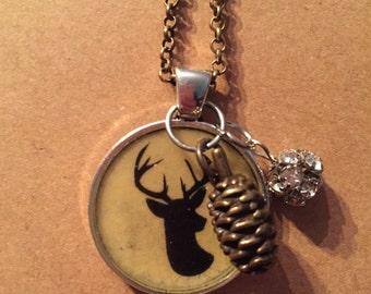 Deer and Acorn Necklace