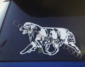 Australian Shepherd decals 3 Designs to choose from Merle Tri and tail