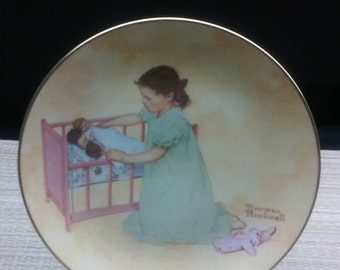 """Norman Rockwell's American Family Series """"LITTLE MOTHER"""""""