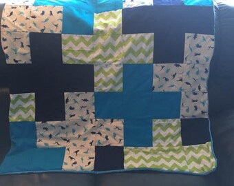 Blanket Quilted with Minky Backing