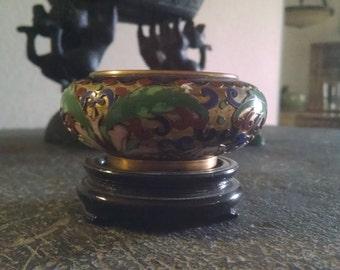 Vintage Cloisonne Footed Bowl