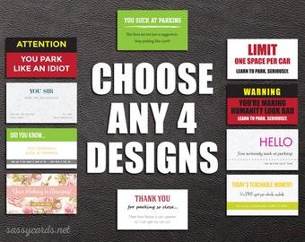 Bad Parking Variety Pack - Choose Any 4 Designs