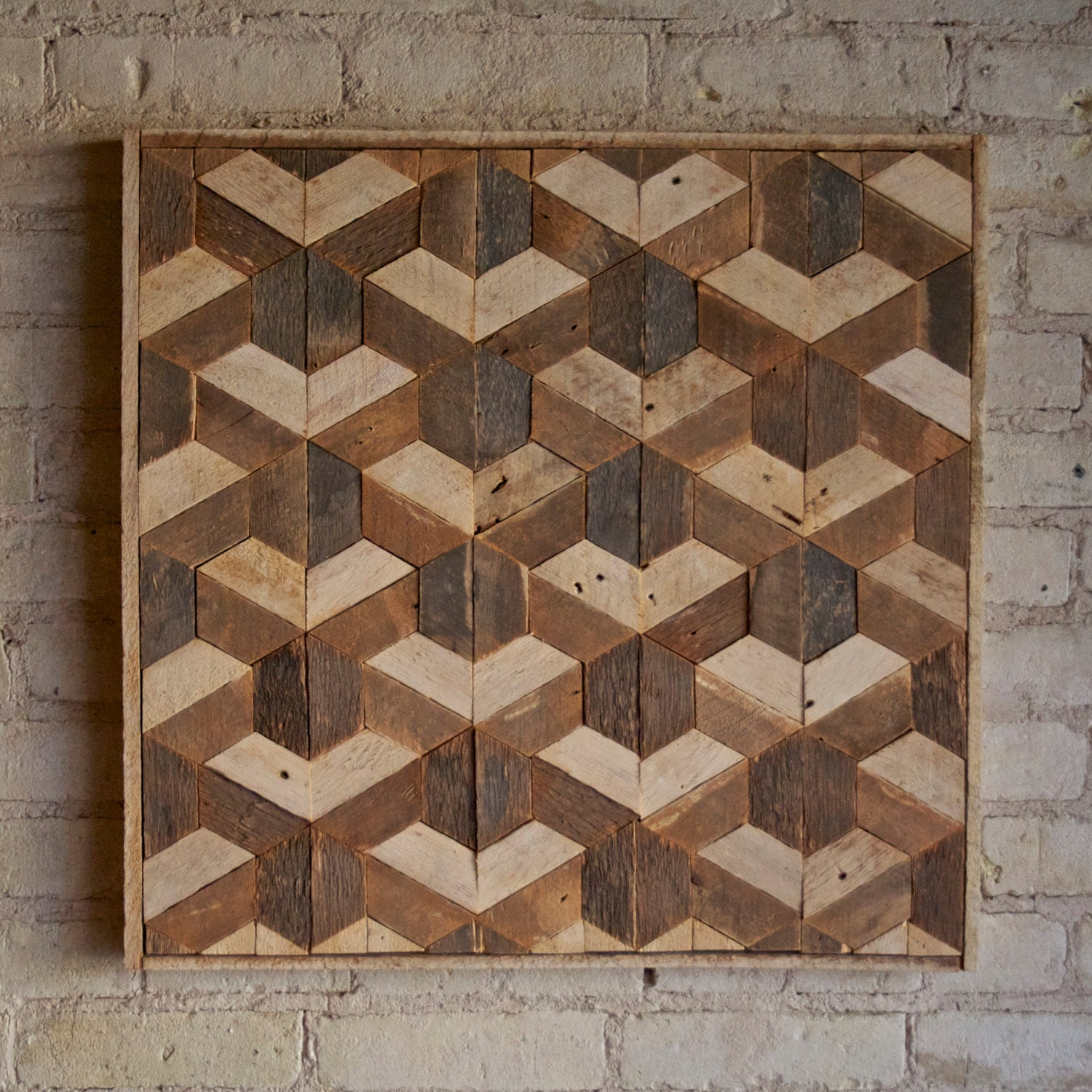 Wood Art Decor Awesome Reclaimed Wood Wall Art Decor Lath Pattern Geometric Hexagon Inspiration Design
