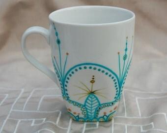 Square Cup style mandala handmade