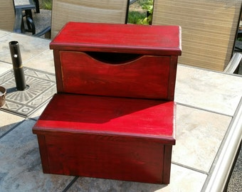 Hand Made Step Stool w/ Storage