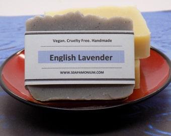 English Lavender Face and Body Bar - All Natural, Handmade, Vegan, Gluten-Free