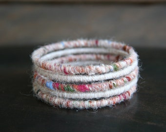Woven Bohemian Bangle Bracelets Set of 5