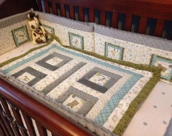 Quilted Custom Crib Set