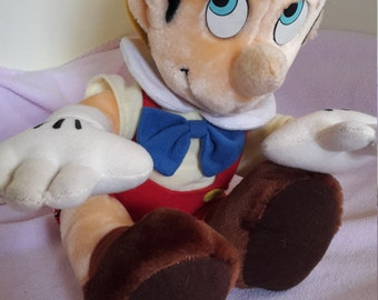 Pinocchio,vintage plush,walt disney world,pinocchio stuffed plush 12