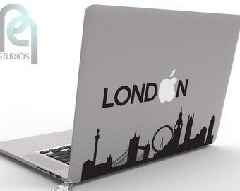 London Skyline - awesome and creative High Quality matte vinyl macbook or laptop decal, sticker