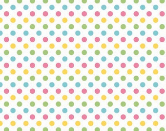 Small Dots Girl by Riley Blake Designs - Polka Dots - Pastel - Quilting Cotton Fabric - choose your cut