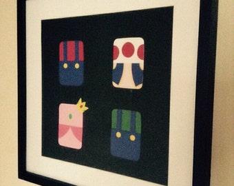 Handmade Minimalist Super Mario Bros. Poster