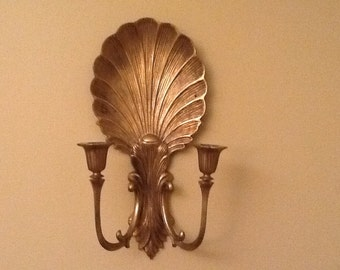 Solid Brass Shell Sconce