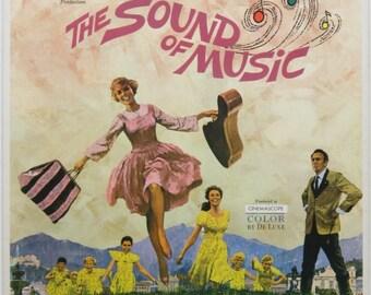 Julie Andrews - The Sound Of Music -  Original Australian window card 1965