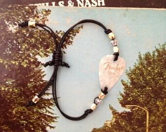 Faux Mother-of-Pearl Guitar Pick Bracelet