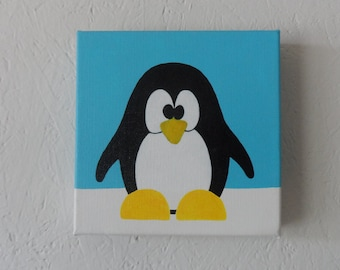 "Childrens art , Penguin, ""Puggs"""