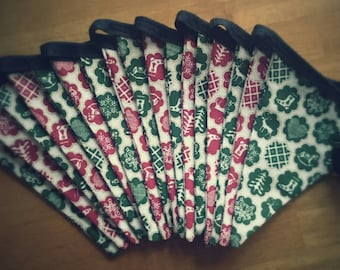 Red and Green Christmas Bunting Garland 3m