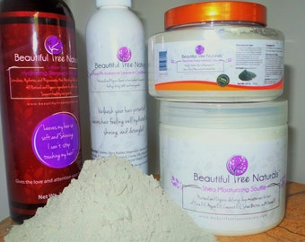 Beautiful Tree Naturals - Healthy Hair Growth: Shampoo, Moisturizer, Leave-in, Bentonite healing clay