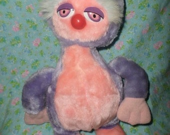 Vintage Planet Animals plush ZAX Alien Mighty Star 1982 Planet purple Pink ECU 1982