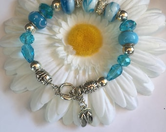Lampwork Murano Glass European Bracelet