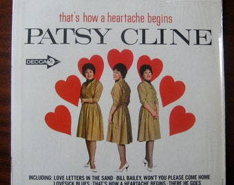 That's How A Heartache Begins By Patsy Cline Vintage Vinyl 1964 VG+